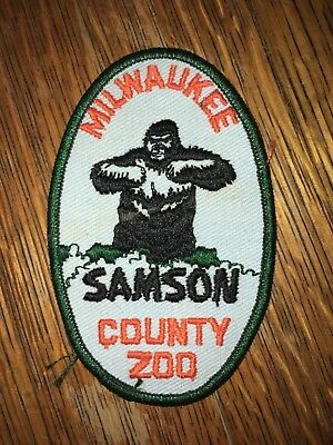 "Vintage Samson The Gorilla 4 3/4"" Twill Patch Milwaukee County Zoo Wisconsin"