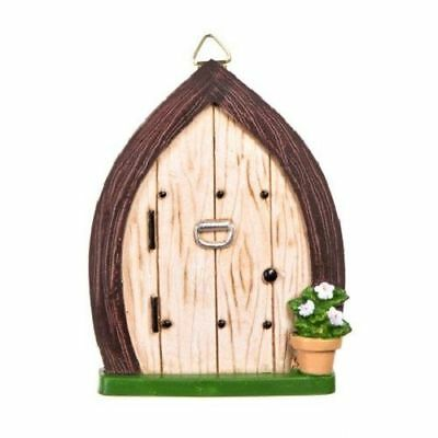 Miniature Dollhouse Fairy Garden Door w/ Knocker & Hanging Hook - Buy 3 Save $5
