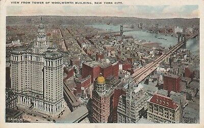 (W)  New York City, NY - View of the City and Surroundings from Woolworth Tower