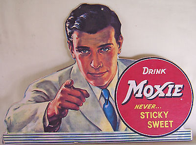Moxie Soft Drink Repro Store Advertising Sign Hard Paper