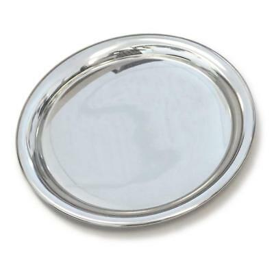 "Cartier Silver Plate Serving Tray 11"" Diameter with Original Box"