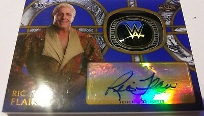 2018 WWE Ric Flair Legends of Wrestling Hall of Fame Ring Auto 12/25