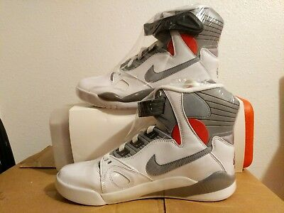 4128b976671d NIKE AIR PRESSURE Size 9.5 White Cement Grey Gamma Orange 831279-100 ...