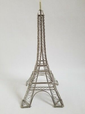"Eiffel Tower Metal Figure approx 11.5"" Paris French Decor"