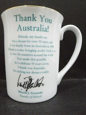 Noritake Dilmah Tea Mug - Celebrating 55 years - Thank You Australia vgc