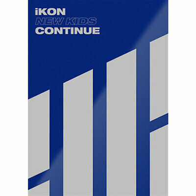 IKON [NEW KIDS:CONTINUE] Album BLUE CD+POSTER+Photo Book+Post Card+Card SEALED