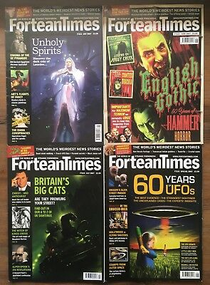 4 x FORTEAN TIMES MAGAZINES 2007 #222-225 | UFOs cryptozoology conspiracy horror