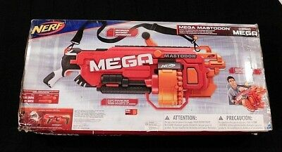 Nerf N Strike Mega Mastodon Gun - Red Dart Foam Mastadon Blaster NEW IN BOX