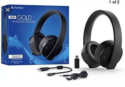 PlayStation Gold Wireless Headset For PlayStation 4. Brand New. Free Shipping.