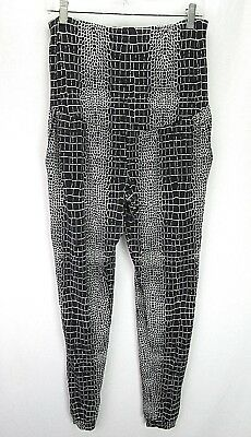 Tart Maternity Women's Leggings M Black White Geometric Modal/Spandex A2