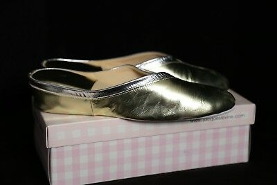 6fca1bd60dd ... SLIPPERS BLACK GOLD SUEDE SIZE 6.5N NARROW.