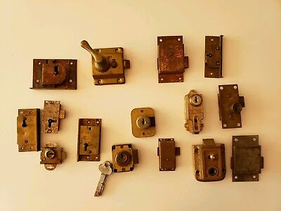 Lot of Antique Vintage Salvage Hardware Parts Locks Doors Cabinets  Furniture