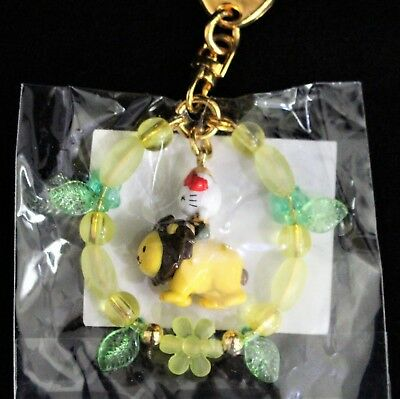 Hello Kitty Riding Lion Key Chain Wreath Of Leaves Collectible Vintage Key Ring