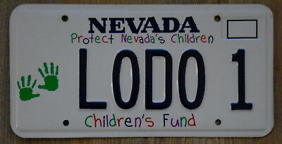 NEVADA Protect Nevada's Children Hands Trust Fund Vanity License Plate LODO 1
