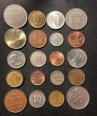 Coins of the World Lot - 20 Different Nations - FREE SHIP - Lot #J13
