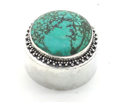 Stunning Design Turquoise Sterling Silver 925 Box 34g MR103