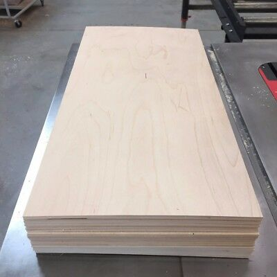 """3 MM Baltic Birch plywood 12"""" x 24"""" sheets - for Laser Engravers & Crafters"""