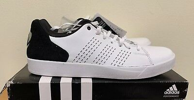 Adidas D Rose Lakeshore Sneakers Leather  White Black- Mens Size 9.5 NEW eec5bbb04