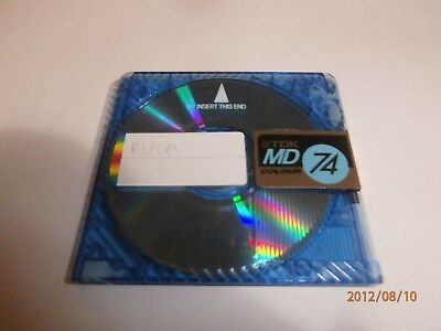 1x TDK MINI DISC TDK MD74 RECORDING BLUE 74 MINUTES MINIDISC MD COLOR - $2 POST