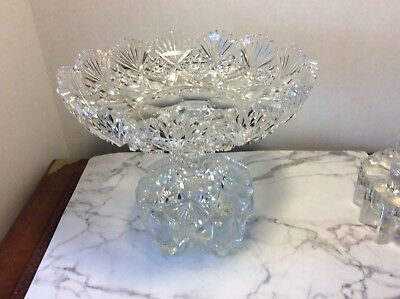 Stunning Antique American Brilliant Crystal Compote