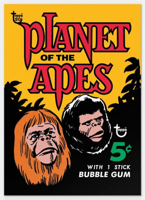 2018 Topps Wrapper Art #46 1969 Planet of the Apes Card Pre Sale Print Run 304