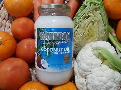 Banaban Virgin COCONUT OIL Pure Organic & Cold Pressed Six 750 ml Glass bottle
