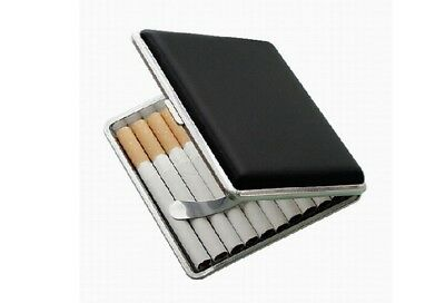 Classic Stainless Steel+Pu Cigar Cigarette Tobacco Case Pocket Pouch Holder Box