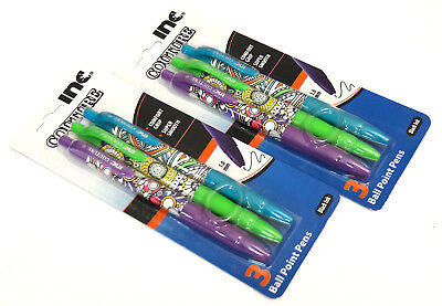 2 Packs 6 Pens Inc® Couture Comfort Grip Retractable Ball Point Pens Black Ink
