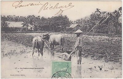 Vietnam, French Indochina (ethnography) - with stamp 1906