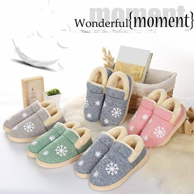 Autumn And Winter Warm Soft Cotton Couple Slippers Anti-Slip Plush Shoes Z1