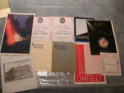 Programmes Theatres Chatelet Comedie Francaise .... Annees 40 A 44