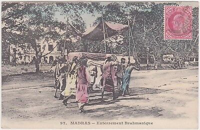 India - Chennai, Madras (ethnography) - with stamp 1908