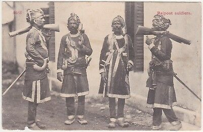 India - Rajpoot soldiers (ethnography) 1925