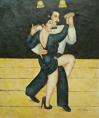 LMOP170 100% hand-painted Couple  Man & Woman Dancing OIL PAINTING on CANVAS ART