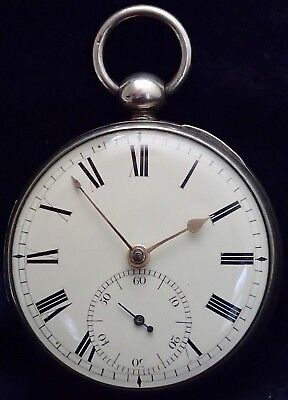 Solid Silver MASSEY TYPE 5 Patent Fusee Pocket Watch C.THOMPSON BATH 1829