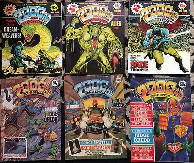 The Best of 2000AD +sci-fi specials +dice man - joblot