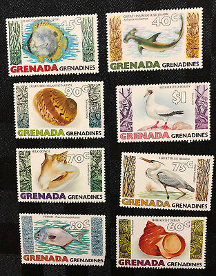 Set of 8 x 1979 Grenada Grenadines stamps - Marine Wildlife