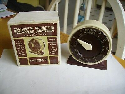 Vintage metal Francis Ringer for Kitchen dating from 1930s-40s boxed.