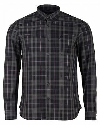 New with tag Fred Perry Contrast Stripe Tartan Shirt RRP £80 XL