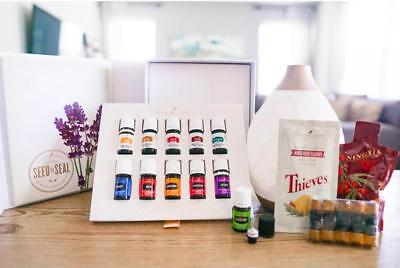 YOUNG LIVING STARTER KIT WITH 11 ESSENTIAL OILS+DESERT MIST DIFFUSER+Membership