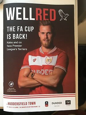 Bristol City F.C v Huddersfield Town 05/01/2019 (Sell Out )Match Programme