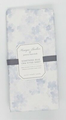 Pottery Barn Kids ~ Monique Lhuillier ~ Something Blue Crib Fitted Sheet