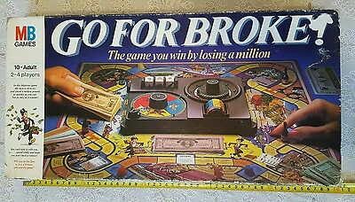 Go For Broke Board Game MB Games  4025 02 vintage 1985