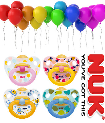 Nuk New Happy Kids Latex Baby Orthodontic Pacifier Soother  0-6 / 6-18