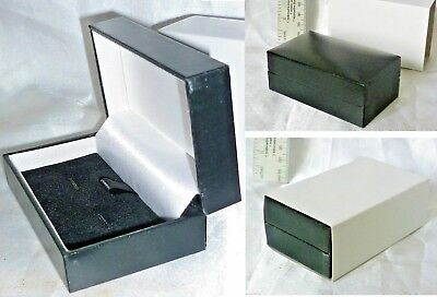 A Luxury Double Cufflink / Pendant / Necklace Faux Leatherette Present Gift Box