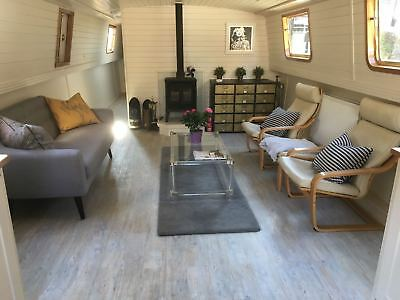 Widebeam canal boat 70x12.9 with transferrable Limehouse London Marina mooring