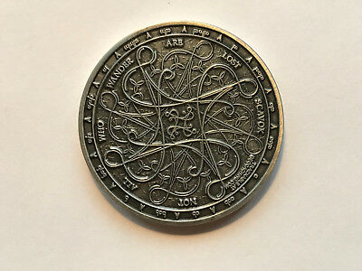 Geocoin Tengwar Antique Silver LE (AS)