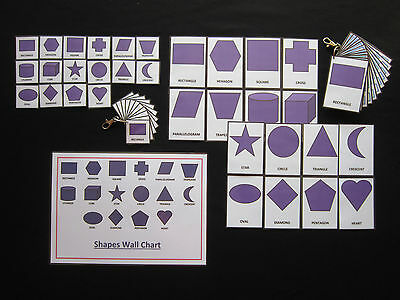 Shapes Cards Purple - PECS/Autism/Choice Board/Dementia/Speech Loss/Visual Aids