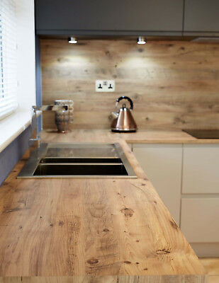 Mississippi Pine effect  Kitchen Worktop Laminate  3m 600mm 40mm Square Edge.