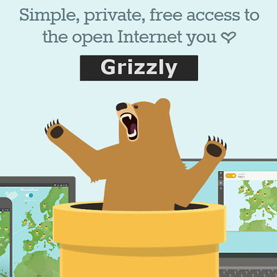 TunnelBear VPN Grizzly Premium 1 Year Subscription Unlimited Data